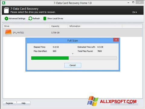 لقطة شاشة CardRecovery لنظام التشغيل Windows XP