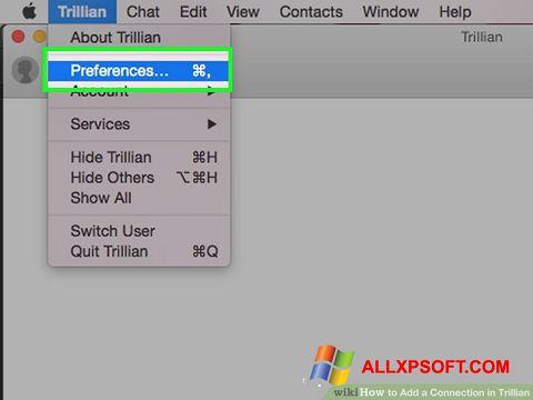 لقطة شاشة Trillian لنظام التشغيل Windows XP