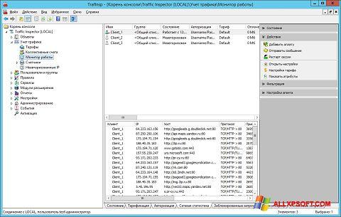 لقطة شاشة Traffic Inspector لنظام التشغيل Windows XP