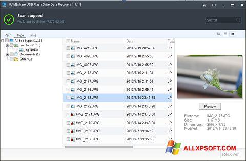 لقطة شاشة USB Flash Drive Recovery لنظام التشغيل Windows XP