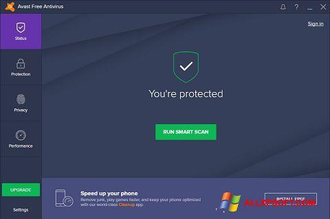 لقطة شاشة Avast Free Antivirus لنظام التشغيل Windows XP