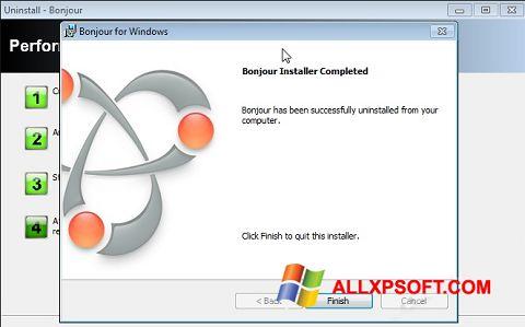 لقطة شاشة Bonjour لنظام التشغيل Windows XP