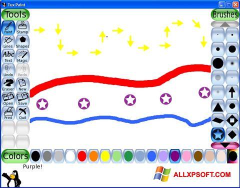 لقطة شاشة Tux Paint لنظام التشغيل Windows XP