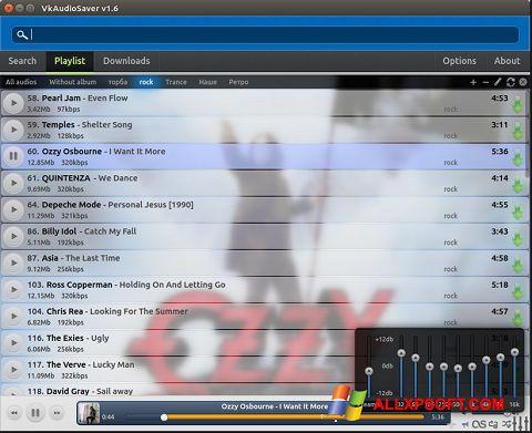 لقطة شاشة VkAudioSaver لنظام التشغيل Windows XP