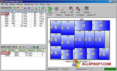 لقطة شاشة Cutting لنظام التشغيل Windows XP