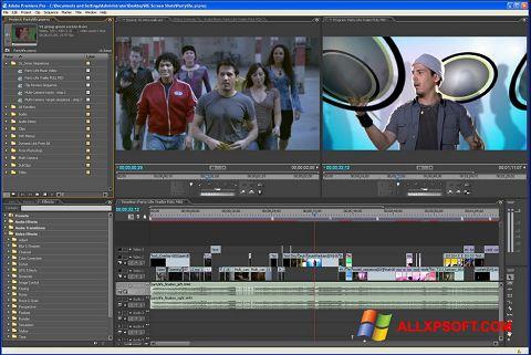 لقطة شاشة Adobe Premiere Pro لنظام التشغيل Windows XP