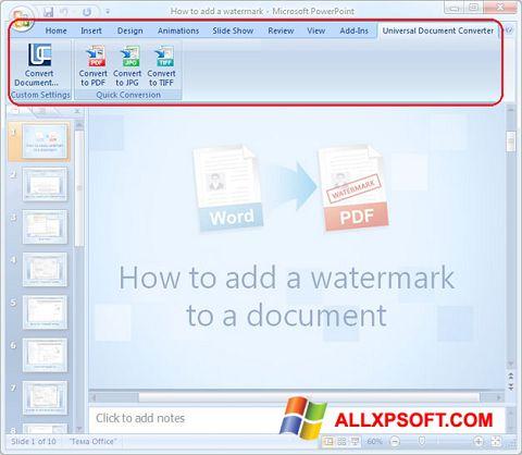 لقطة شاشة Microsoft PowerPoint لنظام التشغيل Windows XP