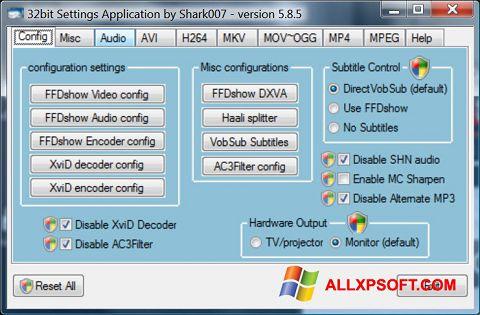 لقطة شاشة Vista Codec Package لنظام التشغيل Windows XP
