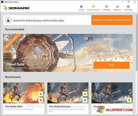 لقطة شاشة 3DMark لنظام التشغيل Windows XP