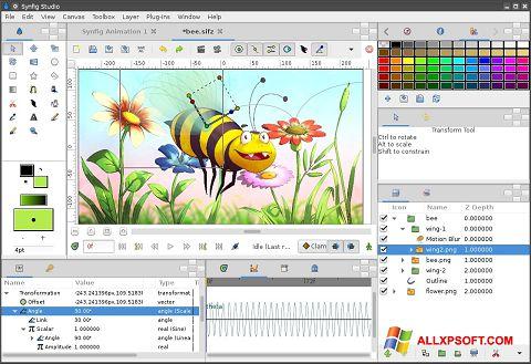 لقطة شاشة Synfig Studio لنظام التشغيل Windows XP