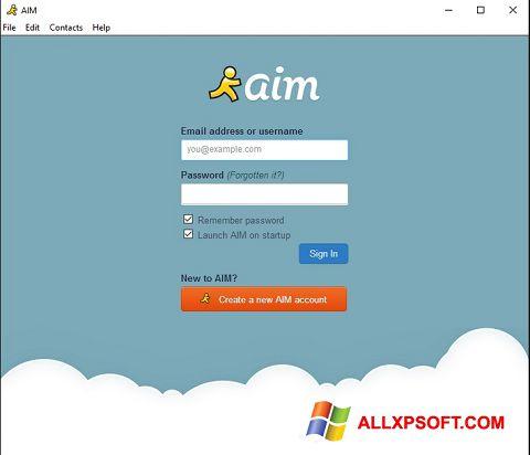 لقطة شاشة AOL Instant Messenger لنظام التشغيل Windows XP