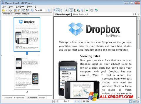 لقطة شاشة STDU Viewer لنظام التشغيل Windows XP
