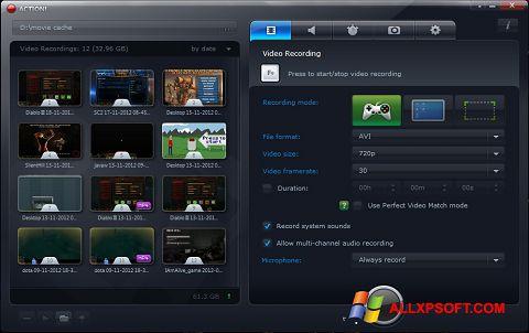 لقطة شاشة Action! لنظام التشغيل Windows XP