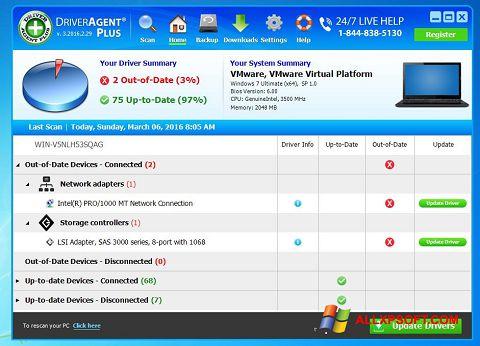 لقطة شاشة DriverAgent لنظام التشغيل Windows XP