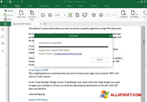 لقطة شاشة PDF Editor لنظام التشغيل Windows XP