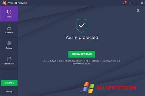 لقطة شاشة Avast! Pro Antivirus لنظام التشغيل Windows XP