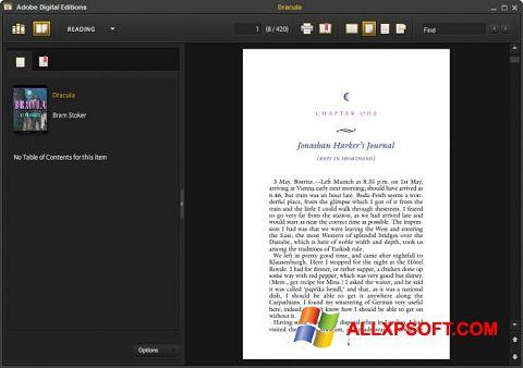 لقطة شاشة Adobe Digital Editions لنظام التشغيل Windows XP