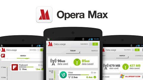 لقطة شاشة Opera Max لنظام التشغيل Windows XP