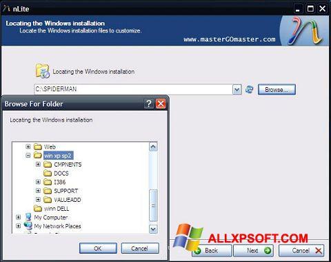 لقطة شاشة nLite لنظام التشغيل Windows XP