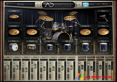 لقطة شاشة Addictive Drums لنظام التشغيل Windows XP