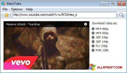 لقطة شاشة MassTube لنظام التشغيل Windows XP