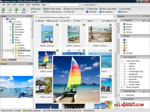 لقطة شاشة ACDSee Photo Manager لنظام التشغيل Windows XP
