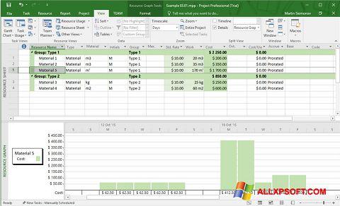 لقطة شاشة Microsoft Project لنظام التشغيل Windows XP