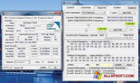 لقطة شاشة SetFSB لنظام التشغيل Windows XP