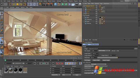 لقطة شاشة CINEMA 4D لنظام التشغيل Windows XP