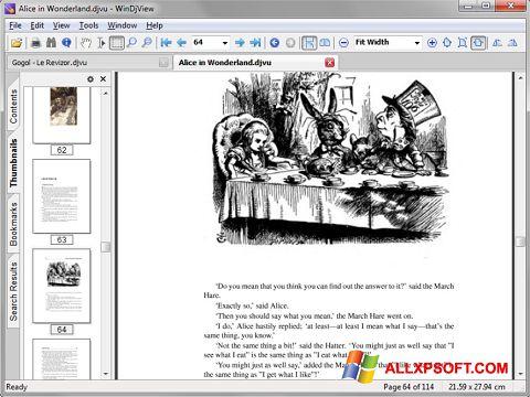 لقطة شاشة DjView لنظام التشغيل Windows XP