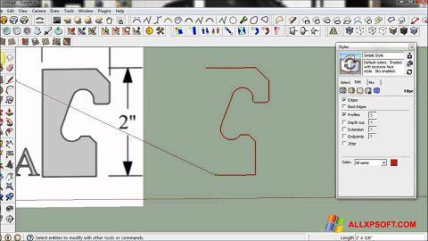 لقطة شاشة SketchUp لنظام التشغيل Windows XP