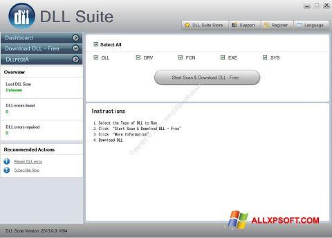 لقطة شاشة DLL Suite لنظام التشغيل Windows XP