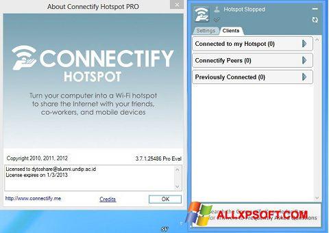 لقطة شاشة Connectify Pro لنظام التشغيل Windows XP