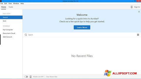 لقطة شاشة Adobe Acrobat Pro لنظام التشغيل Windows XP