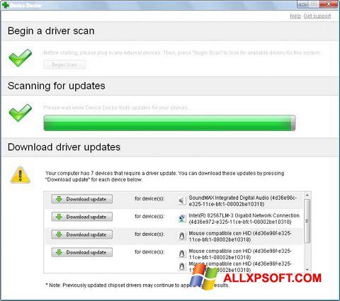 لقطة شاشة Device Doctor لنظام التشغيل Windows XP