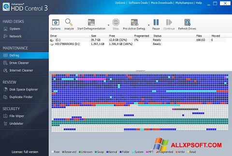 لقطة شاشة Ashampoo HDD Control لنظام التشغيل Windows XP