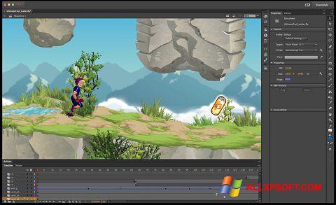 لقطة شاشة Adobe Flash Professional لنظام التشغيل Windows XP