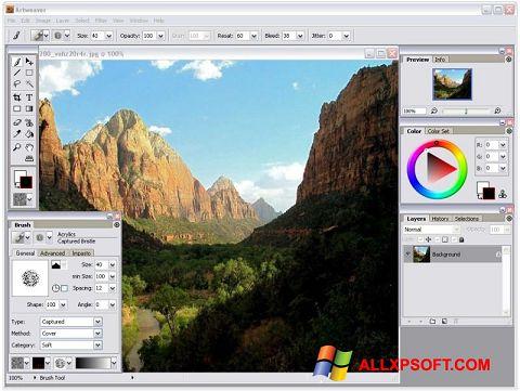 لقطة شاشة Artweaver لنظام التشغيل Windows XP