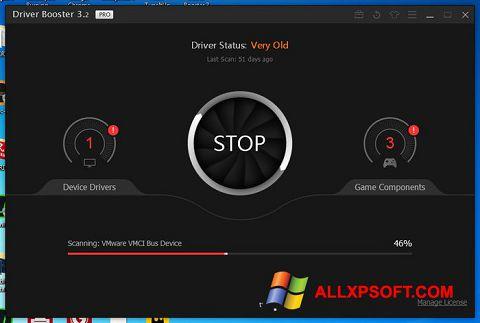 لقطة شاشة Driver Booster لنظام التشغيل Windows XP