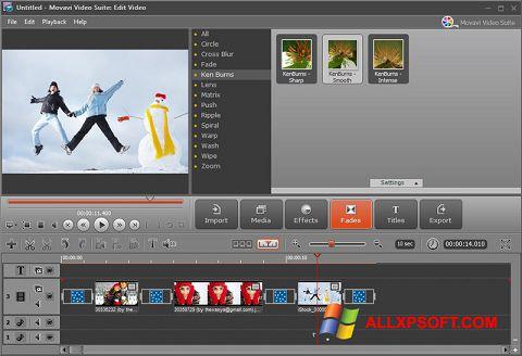 لقطة شاشة Movavi Video Suite لنظام التشغيل Windows XP