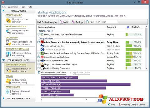 لقطة شاشة Reg Organizer لنظام التشغيل Windows XP