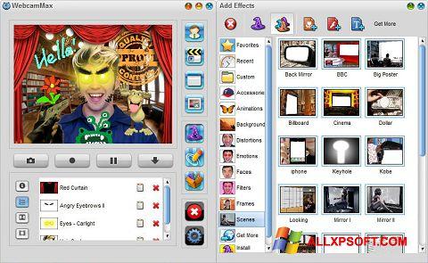 لقطة شاشة WebcamMax لنظام التشغيل Windows XP