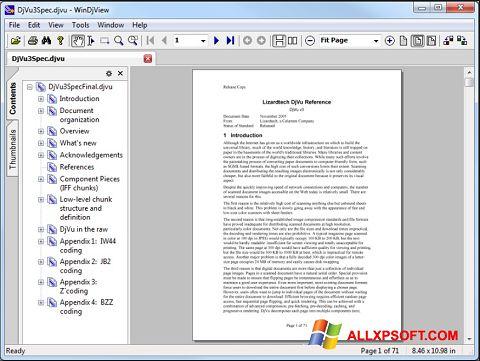 لقطة شاشة WinDjView لنظام التشغيل Windows XP