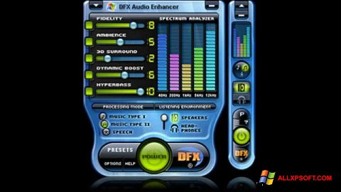 لقطة شاشة DFX Audio Enhancer لنظام التشغيل Windows XP