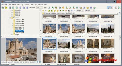 لقطة شاشة FastStone Image Viewer لنظام التشغيل Windows XP