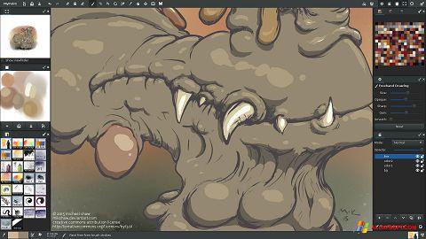 لقطة شاشة MyPaint لنظام التشغيل Windows XP