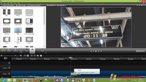 لقطة شاشة Camtasia Studio لنظام التشغيل Windows XP