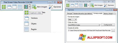 لقطة شاشة Free Screen Video Recorder لنظام التشغيل Windows XP
