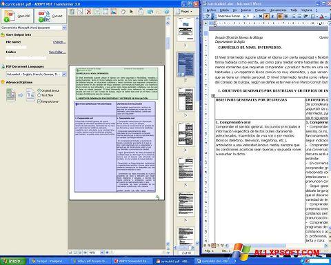 لقطة شاشة ABBYY PDF Transformer لنظام التشغيل Windows XP