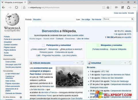 لقطة شاشة Microsoft Edge لنظام التشغيل Windows XP